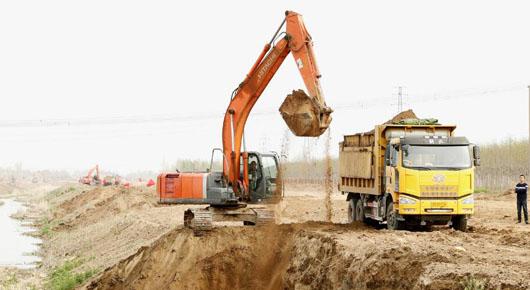 丹河防洪治理工程建设有序推进